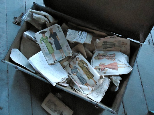 Box with Dress Patterns