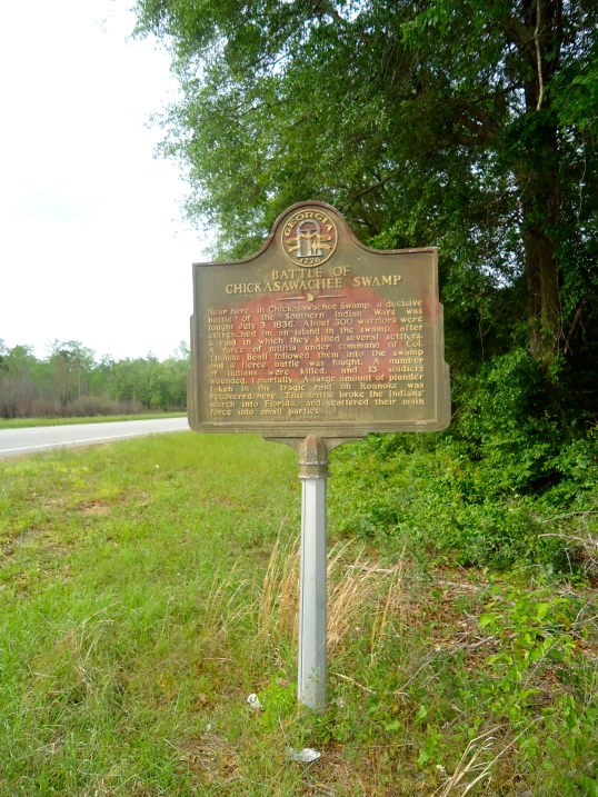 Battle of Chickasawhatchee Swamp Historical Marker, Elmodel, Baker County