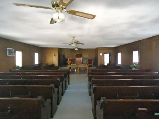 Inside Mount Enon Church