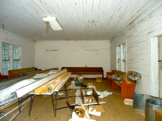 Inside Old Piney Grove Church