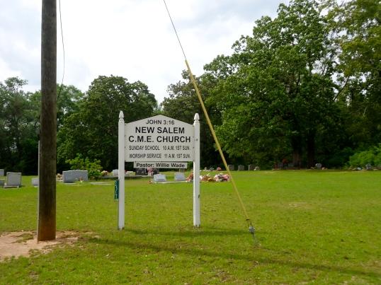 New Salem CME Church Sign