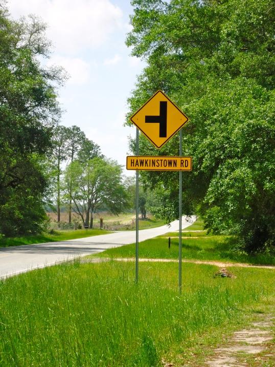 Hawkinstown Road Sign, Hawkinstown, Baker County