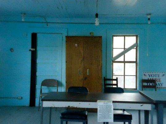 Inside the Hoggard Mill Courthouse