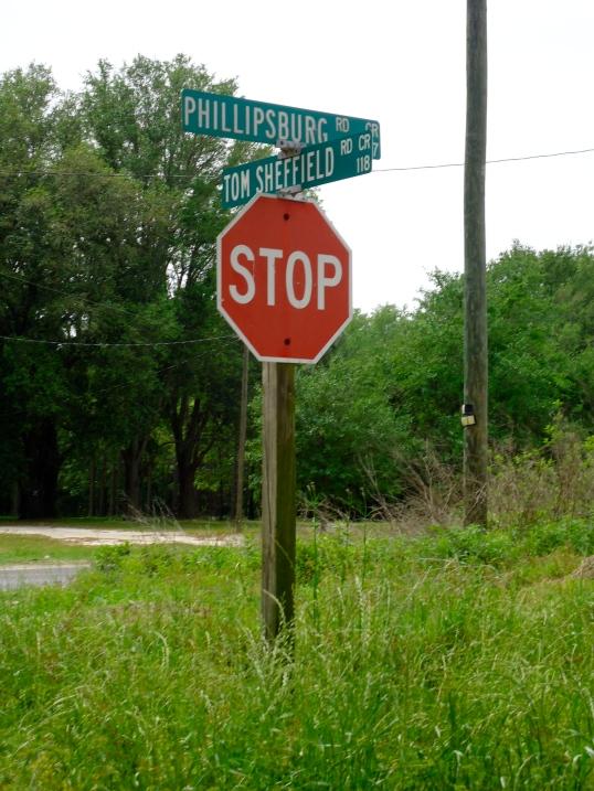 Phillipsburg and Tom Sheffield Road Signs, Phillipsburg, Baker County